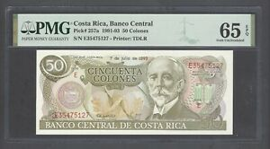 Costa Rica 50 Colones 7-7-1993 P257a Uncirculated Grade 65