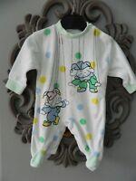 Pyjama en velours  bébé  T 1 mois