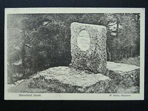Gloucester THE HARESFIELD STONE / The Cromwell Stone - Old Postcard by M. Barton