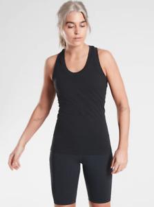 ATHLETA Momentum Tank Top L Large  NWT Black Lightweight Workout Gym