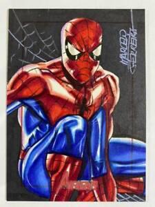 2011 Marvel Avengers SketchaFEX Spider-Man Artist Sketch Marcelo Ferreira