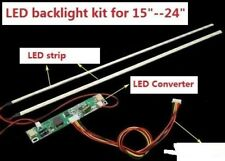 "kit STRISCIA LED + INVERTER + CAVI x TV e MONITOR DA 15"" A 24"" lum. Regolabile"