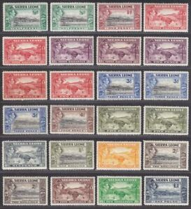 Sierra Leone 1938-44 King George VI Set Mint SG188-200 cat £140