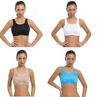 Womens High Impact Wirefree Non-padded Cup Sport Running Full Coverage Bra 38DDD