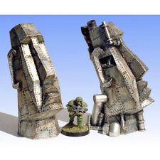 Armorcast 28mm Resin ACTT003 (2 pcs) Metal Easter Island Heads Terrain NEW