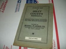 Vintage Standard Pocket Map Sibley  County Minnesota McGill-Warner