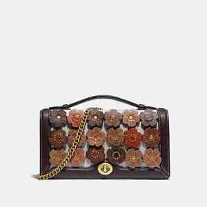 Coach Riley Chain Clutch with Tea Rose