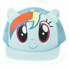 AWESOME MY LITTLE PONY RAINBOW DASH BLUE TRUCKER STYLED SNAPBACK CAP *NEW*
