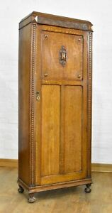 Antique vintage carved wardrobe - hall coat cupboard