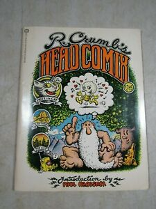 Vintage 1970 1st Ballantine Printing R Crumb's Head Comix Paperback Book 8.0 VF