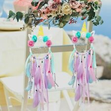 Handmade Colorful Unicorn Dream Catcher Gifts Wall Hanging Wedding Party Decor