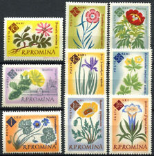 Mint Never Hinged/MNH Flowers Romanian Stamps