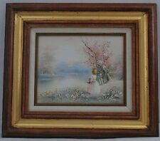 "Impressionist Oil Painting Artist P. Minton 8""x 10"" - 15""x 17"" Framed"