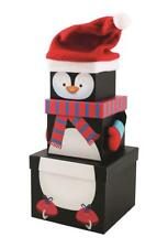 3 PENGUIN Gift Boxs Stackable Nested Storage Decoration Kids Present Party