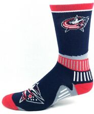Columbus Blue Jackets Hockey Navy & Red Sport Big Deuce Crew Socks