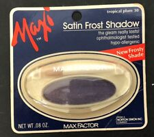 Vintage Purple Eyeshadow Max Factor Maxi Satin Frost Tropical Plum NEW!!