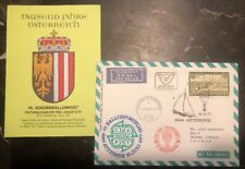 1977 Lamprechtshausen Austria First Day Balloon Airmail Fdc Cover To Canada