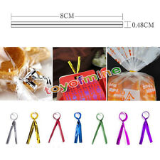 Ties for Candy Lollipop Cake Pop Cello Bag Party Metallic Twist Chic 800 Pcs