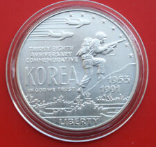 "USA-Amerika: 1991-D Silber Dollar, KM# 231, ST-BU, ""Korea"", #F1830"