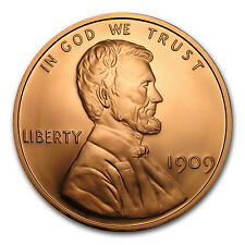1 Pound Copper Round - Lincoln Wheat Cent - SKU #132736