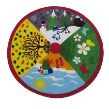 Fun Rug Fts-018 39Rd 39 in. Round Fun Time Shape Four Seasons Kids Rugs