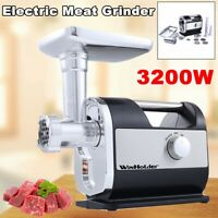 USA 3200W Heavy Duty Commercial Electric Meat Grinder Sausage Machine Stuffer