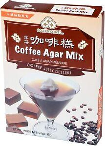 Golden Coins Oriental Coffee Agar Mix Coffee Jelly Dessert 5.8 oz. Made in USA
