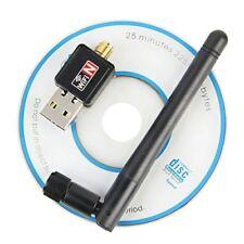 USB Wifi Adaptador 150 Mbps Wi-fi 2dB Antena PC USB Receptor Tarjeta de Red