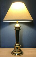 Great Machine Age Deco Style Brass Table Lamp Mutual Sunset
