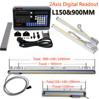 2 Axis Digital Readout DRO For Milling Lathe Machine & Precision Linear Scales