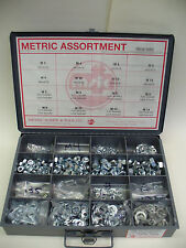 METRIC HEX NUT & WASHER ASSORTMENT M3mm, 4mm, 5mm, 6mm, 8mm, 10mm, 12mm, 14mm