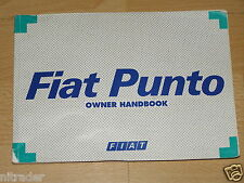FIAT  PUNTO OWNERS MANUAL HANDBOOK  1993 - 1999    FREE UK POSTAGE