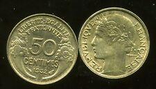50 centimes MORLON 1932 SUP    ( 9 & 2 ouvert )
