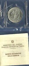 MONETA ITALIA LIRE 500 ARGENTO FAMIGLIA FDC 1987 IN CONFEZIONE DI ZECCA UNC