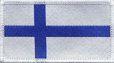 Finnish Flag Finland Woven Badge, Patch 8cm x 4.5cm