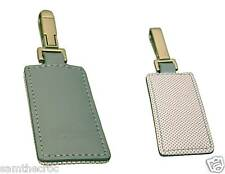 LACOSTE KEYRING KEY FOB Leather Club Collection 2 Chrome Blue