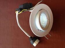 10 X Gimbal white Downlight fitting with 240V Gu10 lamp holdrer Ceiling light