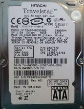 """Hitachi HTS541040G9SA00 PN:0A27472 MLC:DA1519 FW:C60R 40gb 2.5"""" Sata Laptop HDD"""