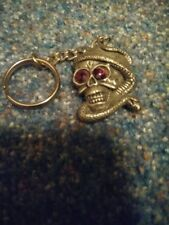 Skull and Serpant Keychain
