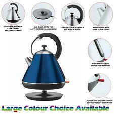 1.8l Litre Cordless Electric Kettle Fast Boil Jug Washable Filter 2200w Blue