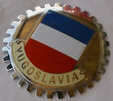 Yugoslavia flag - car grille badge