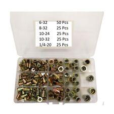 150 PCs SAE Rivet Nut Kit Rivnut Nutsert Assort Set 1/4-20 10-32 10-24 8-32 6-32