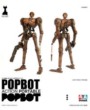 "7.5"" Inch Tall THREEA Action Portable Popbot Figure ""Ashley Wood Designer Toys"""