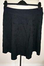 Moda George black lacey print skirt size 12