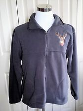 NEW MEN'S FLEECE BRADFORD EXCHANGE SIZE MEDIUM GRAY JACKET WILDLIFE 2012 W/TAGS