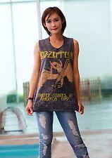 Led Zeppelin  Jimmy Page Punk Rock Band Tank Top Vest Singlet Black T Shirt