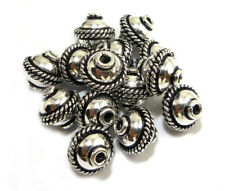 20 PCS 8MM SOLID COPPER BALI BEAD ANTIQUE STERLING SILVER PLATED 139UI