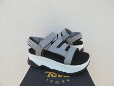 c38a356e605 Teva Zamora Grey Flatform Platform Foam Leather Sandals US 8  EUR 39