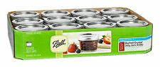 Quilt Jars Set 12 Pack 4 oz with Lids and Bands Ball Mason Regular Mouth Kitchen
