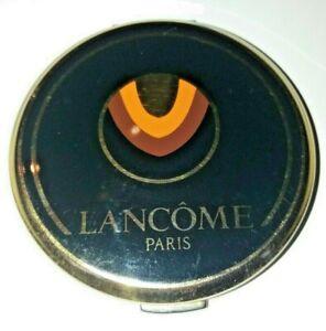 Beautiful Vintage Black Lancome Black & Gold Coloured Ladies' Powder Compact